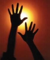 healing hands and sun