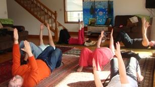 doing somatic movement at thomas ridge lake house