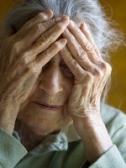 old woman sad
