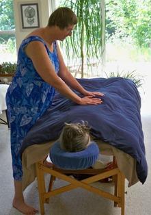 Kim prayer massage session